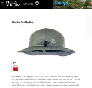Shelta Hats featured in Field and Stream Magazine