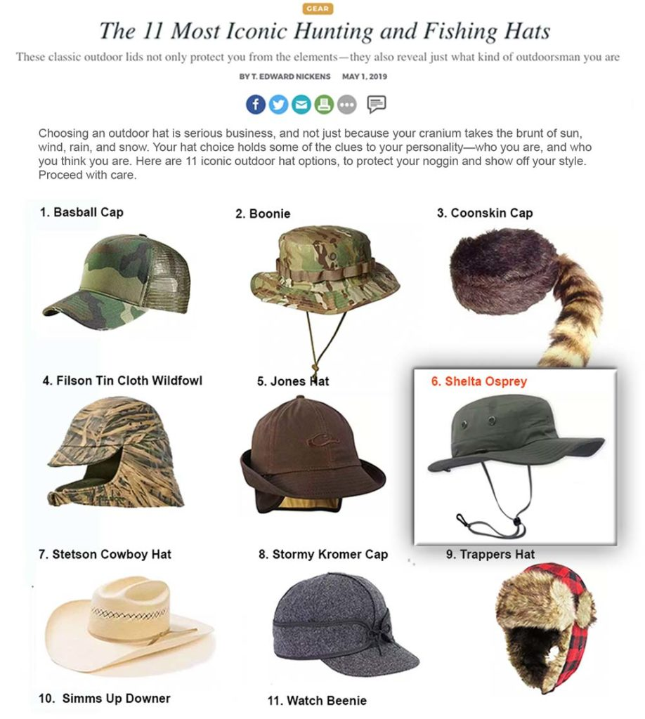 Proud to be on Field & Stream's Iconic Fishing Hats List!